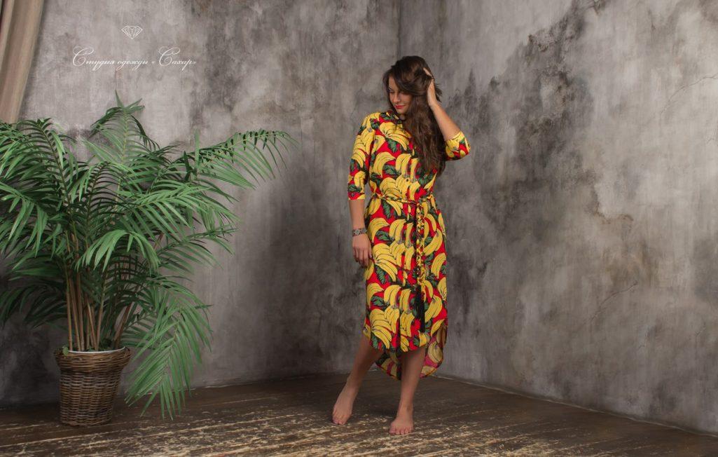 Эквадор платье-рубашка из хлопка 100 %