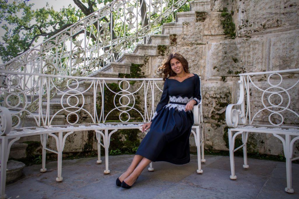 Анастасия платье миди, ниже колена, из тонкой шерсти
